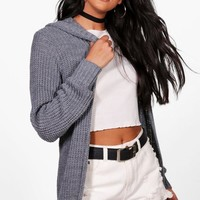 Cynthia Hooded Cardigan | Boohoo