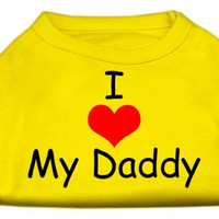 I Love My Daddy Screen Print Shirts Yellow Sm (10)