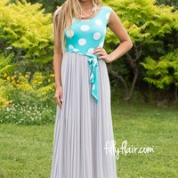Sleek in A Pleated Maxi Dress