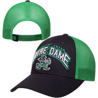 Top of the World Notre Dame Fighting Irish Number One Trucker Adjustable Hat – Navy Blue