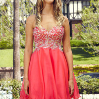 G2088 Sequin Chiffon Homecoming Cocktail Dress