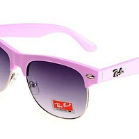 Ray Ban Clubmaster Color Fresh RB3016 Purple Pink Sunglasses