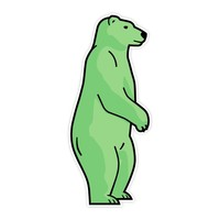 5-pack Bear Stickers
