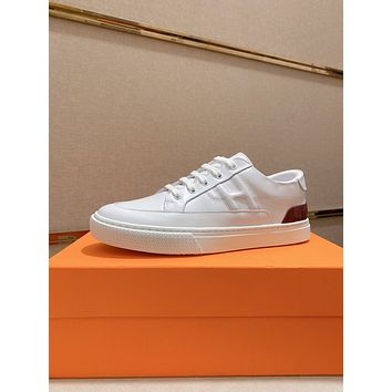 HERMES 2021Men Fashion Boots fashionable Casual leather Breathable Sneakers Running Shoes07270qh