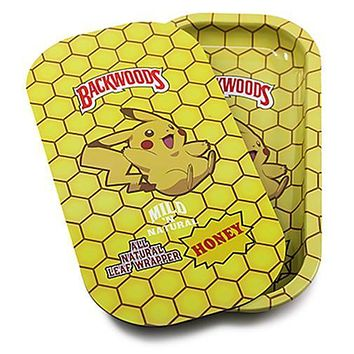 Metal Rolling Tray w/ Magnetic Lid - Pika Yellow