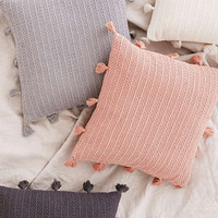 Sage Solid Crochet Pillow | Urban Outfitters