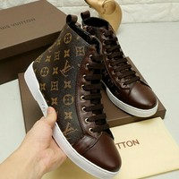 Louis Vuitton Fashion Casual Flats Shoes Boots Shoes-3