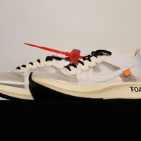 [Free Shipping ]OFF - WHITE ¡Á Nike Zoom Fly ¡°OW Basketball Sneaker