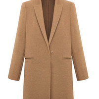 'The Addysen' Brown Collared Long Sleeve Coat
