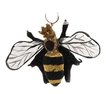 Holiday Ornaments QUEEN BEE Resin Crown Honey Comb Endangered Po2123