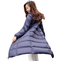 Hot New Arrivals Long Ultra Light 90% White Duck Down Jacket Women Slim Thin Down Coat Womens Winter Jackets and Coats YT109