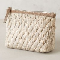 Shimmered Rope Cosmetic Case by Jasper & Jeera Silver One Size Jewelry