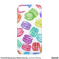 Colorful Macaroons Watercolor Rainbow Cookies iPhone 7 Case