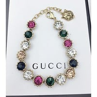 GUCCI New fashion multicolor diamond bracelet accessory