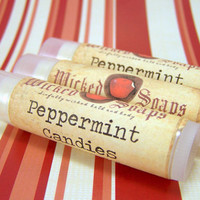 Lip Balm - Peppermint Candies Cocoa Butter and Beeswax Lip Balm