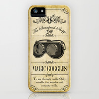 Steampunk Apothecary Shoppe - Goggles iPhone & iPod Case by VectoriaDesigns