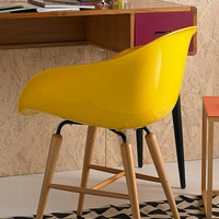 Yellow Armrest Chair - Urban Outfitters