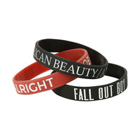 Fall Out Boy Songs Rubber Bracelet 3 Pack
