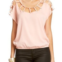 2B Monique Studded Caged Top