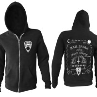Hail Satan And Drink Coffee -Zip Up Hoodie