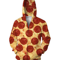 Pizza Zip Up Hoodie