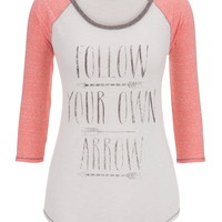 Follow Your Own Arrow Graphic Tee - Pink