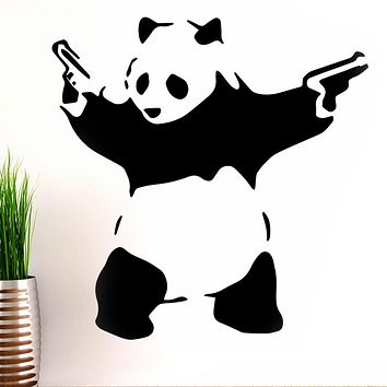 Banksy Panda Gun Wall Decals