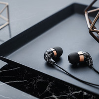 Beautiful In-Ear Earbuds with Remote and Mic for iPhone 7, 7 Plus, 6s, 6s Plus & more (Black Marble Pattern) by Casetify