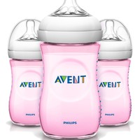 Philips AVENT Natural PP Pink 9-ounce Baby Bottles (Pack of 3)   Jet.com