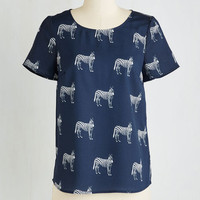 Critters Mid-length Short Sleeves Show Your Stripes Top