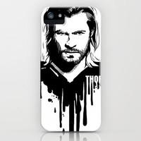 Avengers in Ink: Thor iPhone Case by Rebecca Loomis   Society6