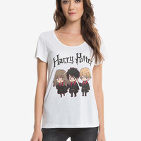 Harry Potter Chibi Trio Womens Tee