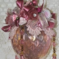 LIMITED EDITION Sybil Hand Decorated Victorian Glass Ornament