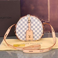 Louis Vuitton LV Women Fashion Leather Round Shoulder Bag Crossbody Satchel