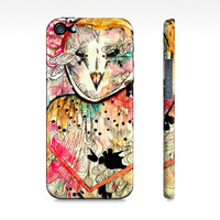 Girly iPhone 5 case - Owl iPhone 5s - iPhone 5 case - Barn owl - watercolor owl - barn owl art - Cell Phone case - iPhone case