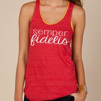 Semper Fidelis tank - marine corps usmc. at ease designs usmc navy army usaf uscg clothing
