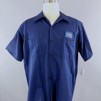 Miller Beer / Delivery Man / Navy Blue XL Short Sleeve / Work Shirt / Lite Beer  / Beer Patch / Patches