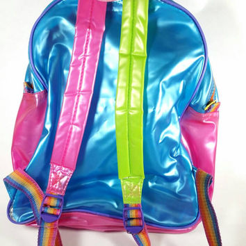 Vintage Lisa Frank Backpack Dolphins 90s Neon