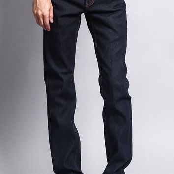 Men's Slim Fit Raw Denim Jeans (Indigo/Timber)