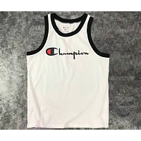 Champion 2018 summer new tide brand men and women couple sleeveless vest F-CN-CFPFGYS white
