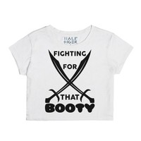 Fighting For That Booty-Female Snow T-Shirt