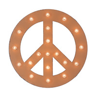 Peace Sign Marquee Sign