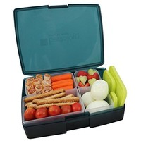 Bentology- Leak-proof Bento Lunch Box with 5 Removable Containers - Translucent Raspberry