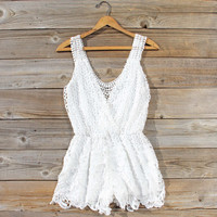 Pale Isle Romper in White