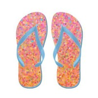 Cotton Candy Sky Flip Flops> After My Art by Catherine Holcombe