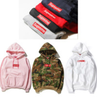 Supreme comfortable cozy Supreme pullover hoodies sweatshirt