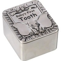 """Disney Dumbo Tooth Fairy Box, """"Baby's First Tooth"""", Zinc Alloy"""