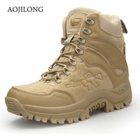Outdoor Sports Tactical Camping Shoes Men Desert Military Tactical Boots Army  Hiking Boot Fashion Waterproof Work Combat Boots