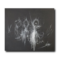 Black and White Canvas Art, Abstract ballet art, ballerina print of ballerina painting by Yuri Pysar