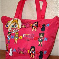 Super S SailorMoon Sling Hand Purse Bag Tote Sailor Moon Pink RARE DISCONTINUED!